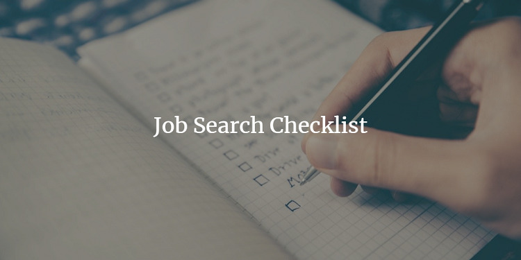 a job search checklist 2020 for job seekers